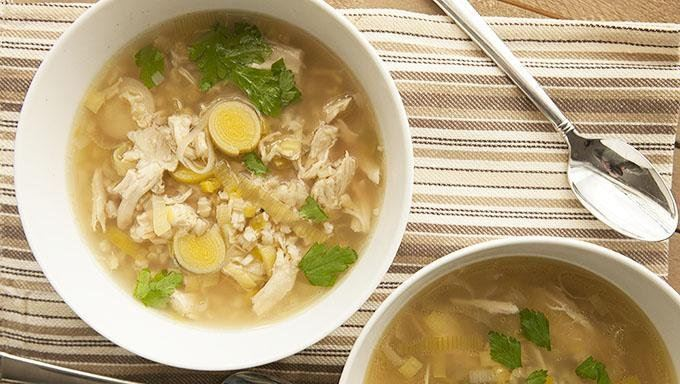 Slow Cooker Cock-a-Leekie Soup recipe - from Tablespoon!