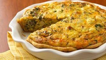 Chicken-Asiago-Spinach Quiche