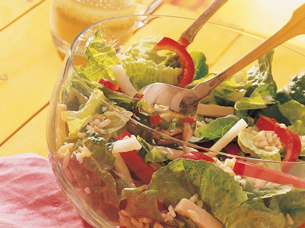 Turkey, Rice and Romaine Salad