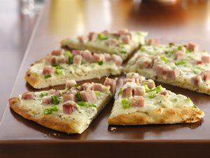 Ham and Gorgonzola Pizza