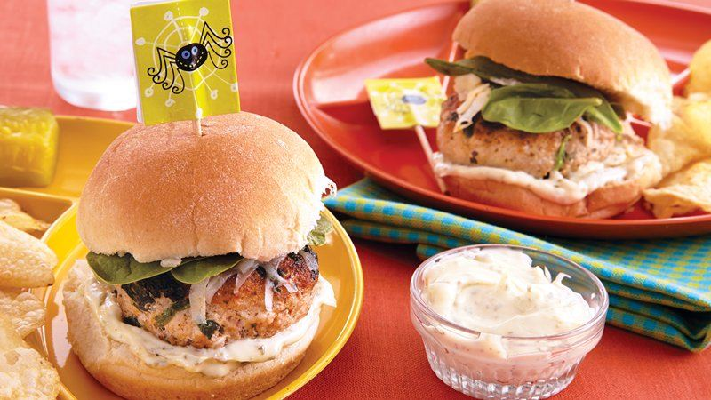 Spinach-Turkey Sliders