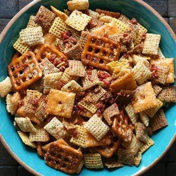 Kentucky Bourbon Bacon Chex Mix® recipe from Betty Crocker