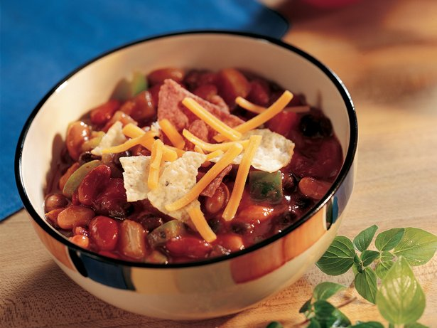 Three-Bean Enchilada Chili