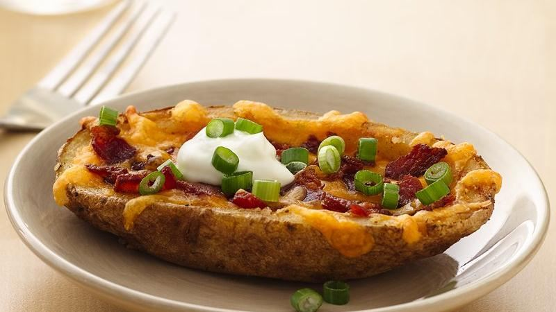 Cheesy Bacon Potato Skins recipe from Betty Crocker