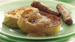French Toast with Gingered Applesauce