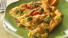 Cheesy Bacon and Broccoli Strata Recipe