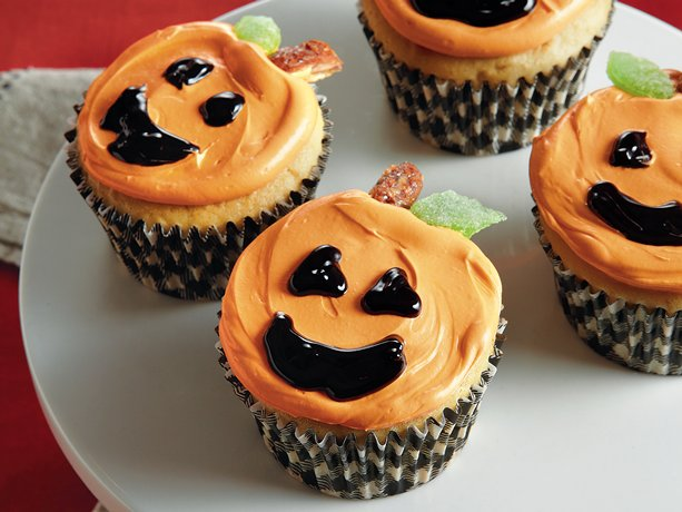 Jack o Lantern Cupcakes