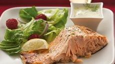 Grilled Dill-Mustard Salmon Recipe