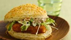 Crunchy Biscuit Fishwiches with Spicy Chile Mayonnaise Recipe