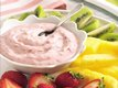 Raspberry-Mint Marshmallow Creme Dip