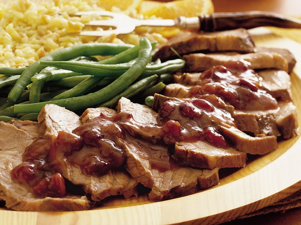 Slow Cooker Pork Roast with Cranberries
