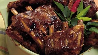 Glazed Hot-and-Sweet Grilled Ribs