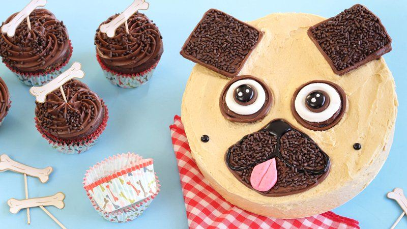 Chocolate-Peanut Butter Pug Cake
