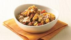 Rotini with Spicy Meat Sauce Recipe