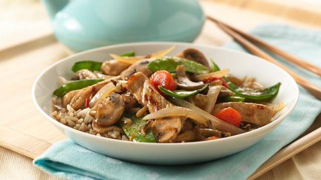 Image of Asian Pork And Vegetable Stir-fry, Pillsbury