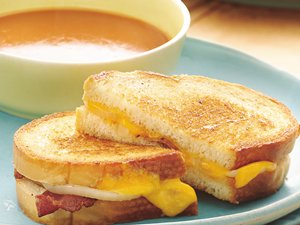Onion and Bacon Cheese Sandwiches