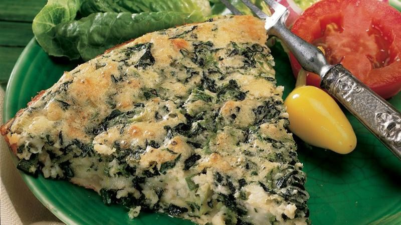 Impossibly Easy Spinach and Feta Pie