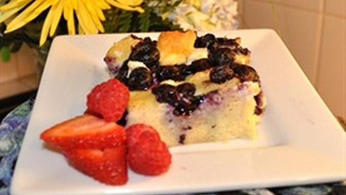 Blueberry Breakfast Bake with Maple Syrup recipe - from Tablespoon!