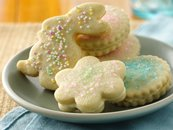 Lemon Cream Sandwich Shortbread Cookies