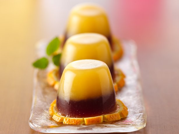 Pomegranate Tequila Sunrise Jelly Shots recipe from Betty Crocker