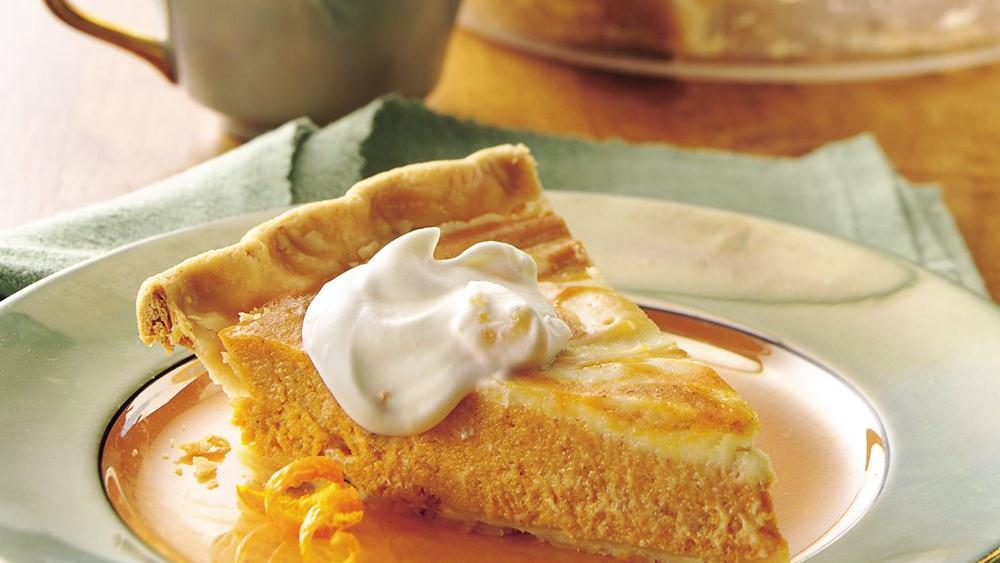 Orange Swirl Pumpkin Pie