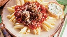 Italian Turkey Meatballs With Mostaccioli Recipe