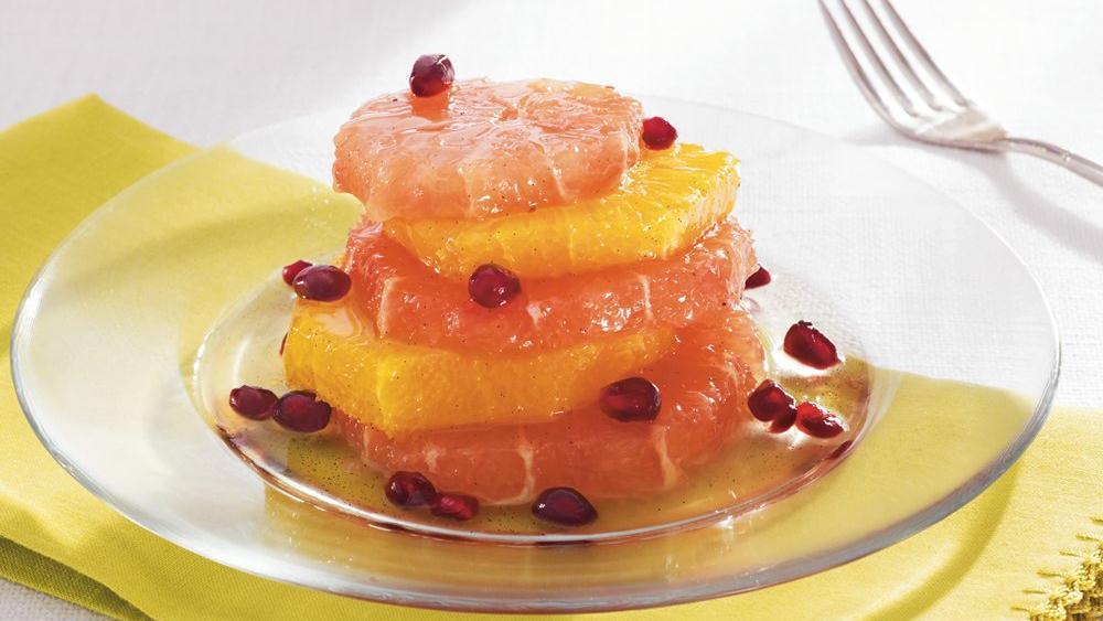 Citrus in Vanilla Syrup