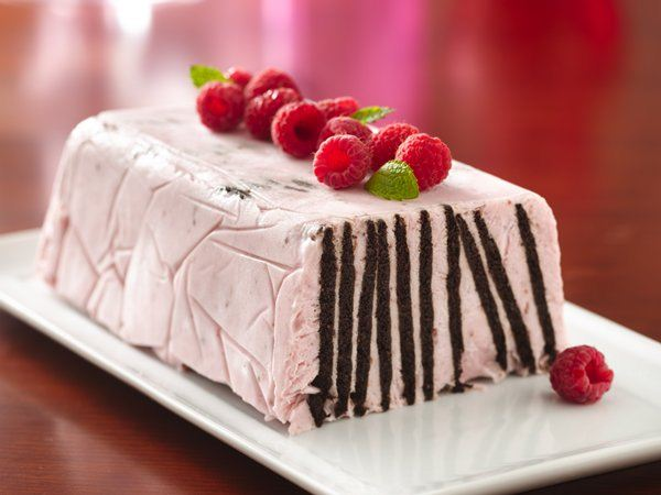 Frozen Chocolate Wafer Raspberry Torte - Life Made Delicious