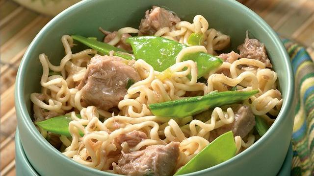 Gingered Pork and Ramen Noodles