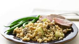 Bulgur with Mushrooms and Blue Cheese