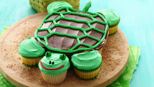 Pull Apart Turtle Cupcakes recipe from BoxTops4Education