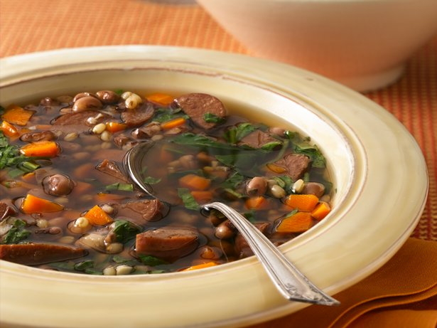 Slow Cooker Black-Eyed Pea and Sausage Soup