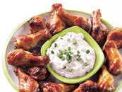 Jerk Chicken Wings with Creamy Dipping Sauce