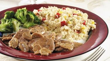 Saucy Pork Medallions with Spiced Couscous