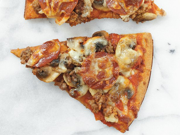 Beef and Pepperoni Pizza