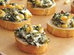 Spinach and Parmesan Crostini