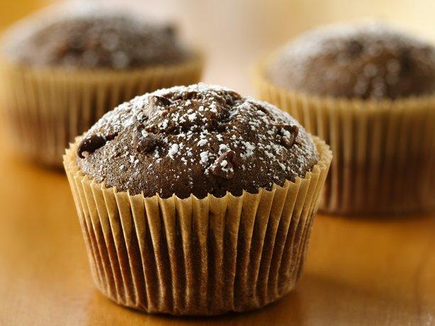 Doble de chocolate de mantequilla de maní Cupcakes
