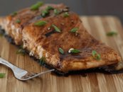 Maple-Balsamic Glazed Salmon