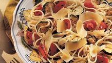 Linguine with Roasted Vegetables Recipe