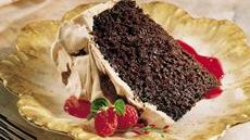 Meringue-Swirled Chocolate Cake Recipe