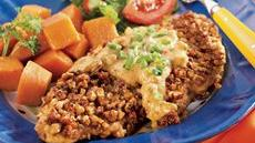Pecan Chicken with Creamy Honey-Mustard Sauce Recipe