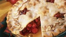 Frosted Cranberry-Cherry Pie Recipe