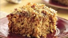 Applesauce Oatmeal Cake with Broiled Coconut Topping Recipe
