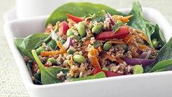 Healthified Vegetarian Thai Salad with Peanut Dressing