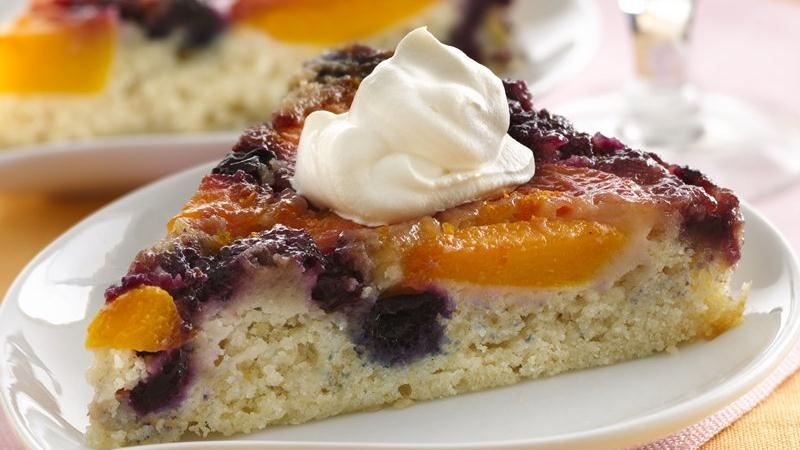 Peach-Blueberry Upside-Down Cake