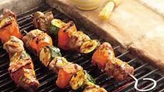 Grilled Pork and Sweet Potato Kabobs Recipe