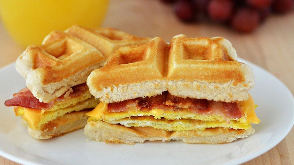 Waffle Breakfast Sandwiches recipe from Pillsbury.com
