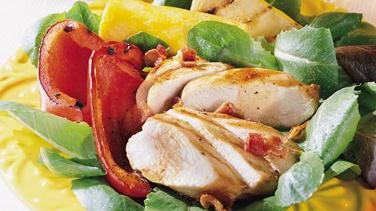 Grilled Chicken Salad with Bacon Vinaigrette