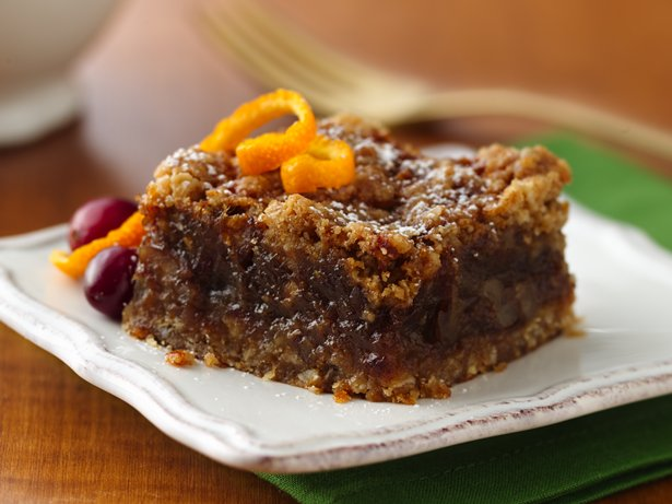 Orange Oat Date Bars