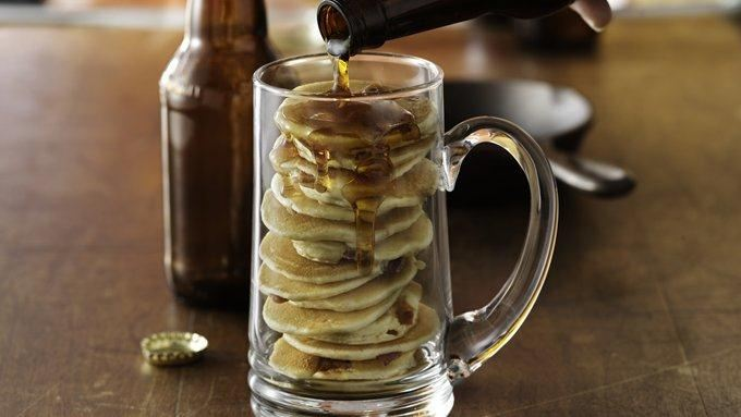 Beer and Bacon Mancakes recipe - from Tablespoon!